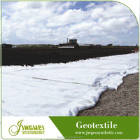 Low cost permeable PET staple nonwoven geotextile filter fabric