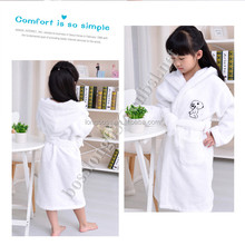 baby candy color bathrobe cute cartoon animal style 100% cotton kids towel/baby sleepwear/baby robe