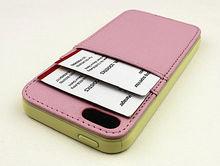 Credit card slot wallet leather case for iphone5,for iphone5 leather case