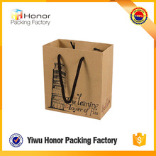 China supplier manufacture 2015 new products handmade kraft shopping bag paper bags with handle