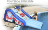 PVC inflatable pool slide for kids, inflatable pool water slides with water spray sprinkler