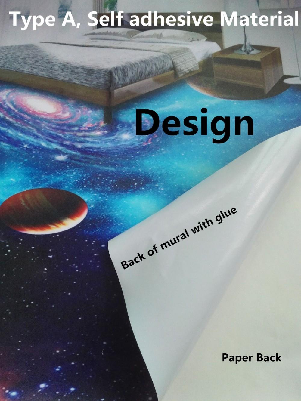 3d adhésif revêtement de sol en vinyle papier peint avec résine ...