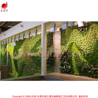 Factory direct living interior garden vertical gardening ideas with brick wall office waiting room vertical garden feature