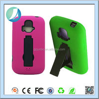 PC+Silicone Stand Hard Combo Case For Zte Z740