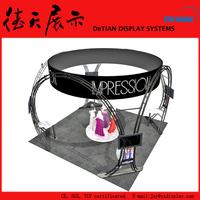 6x6m Creative Black Shanghai Fashion Show Round Booth Truss