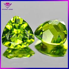 Loose Manufacturer Triangle Cut Peridot Green Polished Cubic Zirconia Gemstone Jewelry Accessories