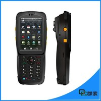 Industrial mobile barcode scanner pda with wifi,3G,IP65,3100mah battery ,uhf rfid reader