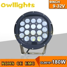 Excellent!! Auto parts180w LED driving light waterproof IP68 4X4 offroad 9inch 180w led work lamp meet with a warm reception