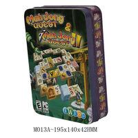 delicate Mahjong box, fancy square tin box