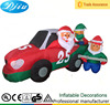 DJ-XT-23 christmas inflatable santa claus drive NO.25 floating car by mechanic tire inflation
