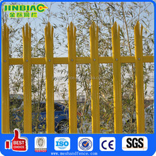 Security galvanized and PVC palisade fencing system