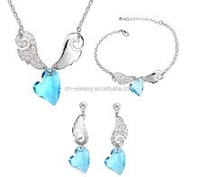 Noblest design wholesale Fashion Jewelry!! Fashionable Austrian crystal necklace sets colorful charm pendant fashion jewelry