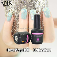 NEWEST ensured top quality one step uv/led gel long lasting nail gel polish professional nail beauty salon products manufacture