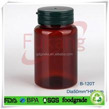 PET Bottle Green Tamper Proof Cap,Round Tamper Proof Lid Bottle,Amber PET Plastic Medicine Bottle