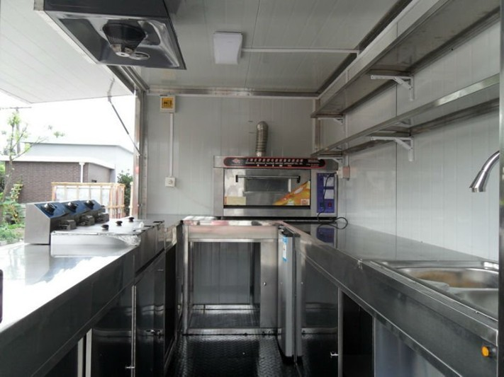 Restauration rapide chariots vendre pizza mobile for Remorque cuisine mobile