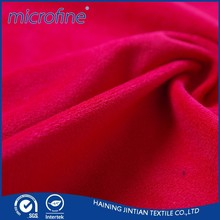 Venda quente de poliéster estofos sintético tecido de camurça