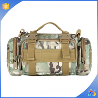 2015 hot selling Fashionable woodland camo Tactical duffle bag for Hiking & camping