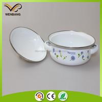 Enamel coated cookware porcelain enamel cookware set with printing german enamel cookware