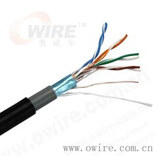 Single shielding and Best Price 24 AWG cat5e stp outdoor cable