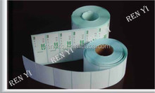 Blank Supermarket Thermal Label, adhesive customized labels, waterproof