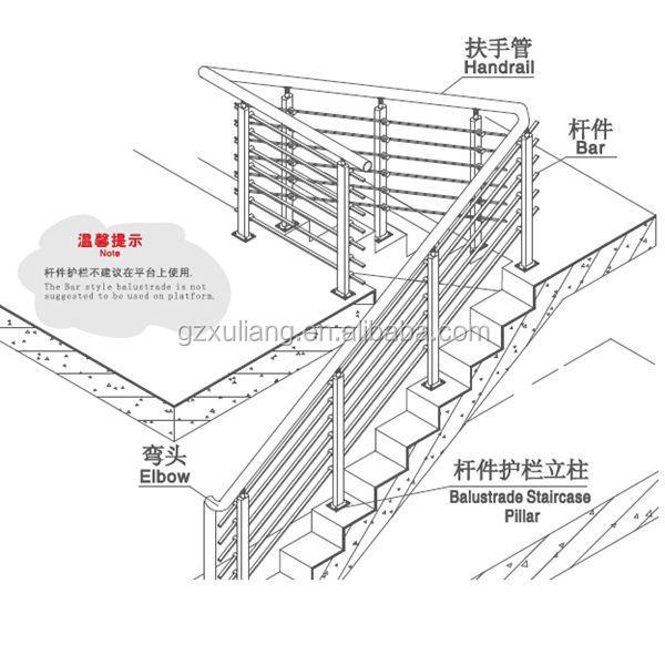 stainless steel balustrade, stair railing,handrail, View ...