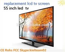 Tv lcd de repuesto pantalla 55 pulgadas led tv con Panel de CMO MPEG1 MPEG2 MPEG4 para su elección