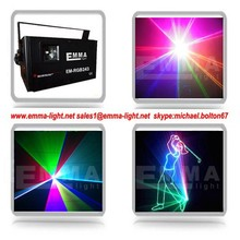 Free Shipping 2W RGB ILDA Laser Light High Power Laser Light Projector Stage laser show system with SD Card Wholesale/Retail