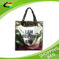 Custom Wholesale Metallic Laminated Non Woven Bag