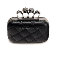 Online Sale Quilt Skull Box Evening Party Clutch bag (LCHEB303)