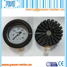 100mm all stainless steel pressure gauge with adjustable rubber cover