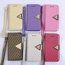 factory price pu leather flip stand wallet cell phone case cover for iphone 4 4s