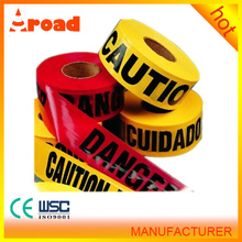 Heavy-duty PE Tape for Hazard Warning or Site Marking, with 0.15mm Total Thickness