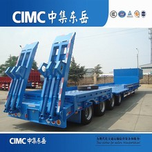 Low Price CIMC Low bed Semi Trailer 60 Ton