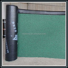 bitumen imgrated self adhesive roofing felt green mineral