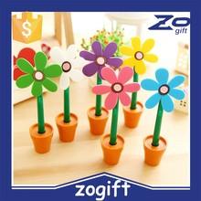 ZOGIFT Creative sun flower shape ballpoint pen/flower pot shape pen