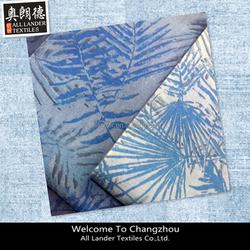 100%cotton denim fabric print denim fabric discharge print
