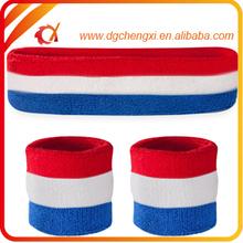 custom made logo basketball sweatband set/wristband and headband