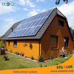 Household on roof solar power system & generator 10000w use Yingli Solar panel