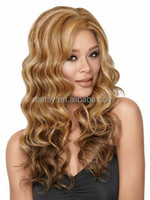 30 piece MOQ human hair wig/ top quality blond wig natural full lace wig
