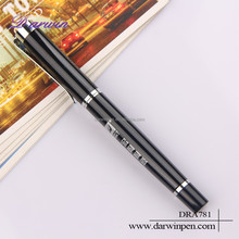 Logo engraved gift box promotional items crown metal pen