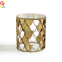 fish scale sofa end table table ET-2012S end table safe