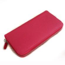zipper red pu leather female purse