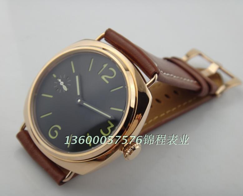 2016 новая мода ПАРНИС Азии Механическая Рука Ветер движения высокое качество Розовое золото корпус часов мужчины часы оптом x0016