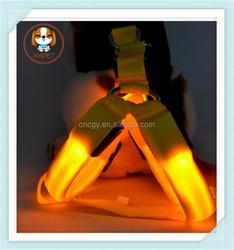 Pet Dog LED Harness Training Safety Light Glowing Harness for Dog LED dog 3 Sizes 8 Colors