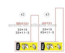 Ink Cartridge Tag Labels for Epson T0711 T0712 T0713 T0714 C/Y/M/K OEM Remanufacture Cartridges
