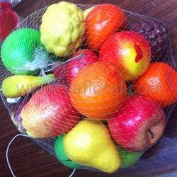Cheap price artificial fruit with mesh bag for sale various name of imported fruits