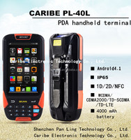 """CARIBE PL-40L AN103 4"""" IP65 dual core rugged touch screen portable pda smartphone with 3G WIFI"""