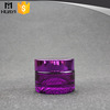 40ml round purple glass cosmetic container manufacturer for jar cream with metal lid