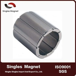 N45H 18mm x 14mm x 20mm Motor Magnets rare earth neodymium monopole magnet for sale