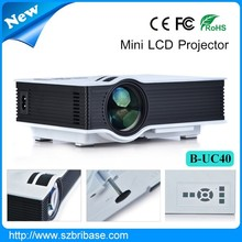2015 China mini projector mobile phone support 800*480 pixel 1080p B-UC40 home theater projector